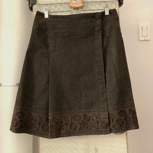 Max Mara Vintage Denim Wrap Skirt